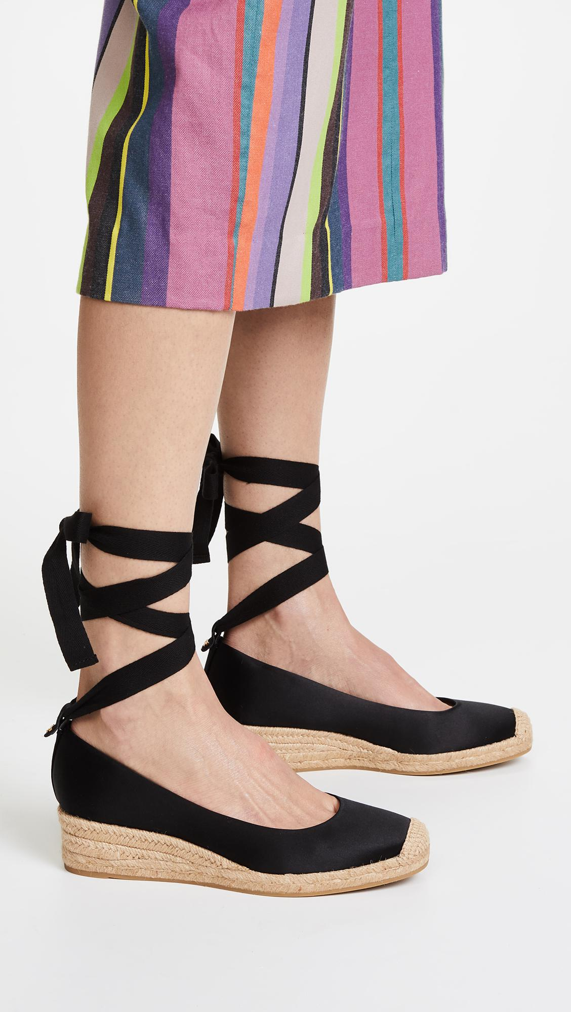 78a94dfc3 Tory Burch - Black Heather 40mm Wedge Espadrilles - Lyst. View fullscreen