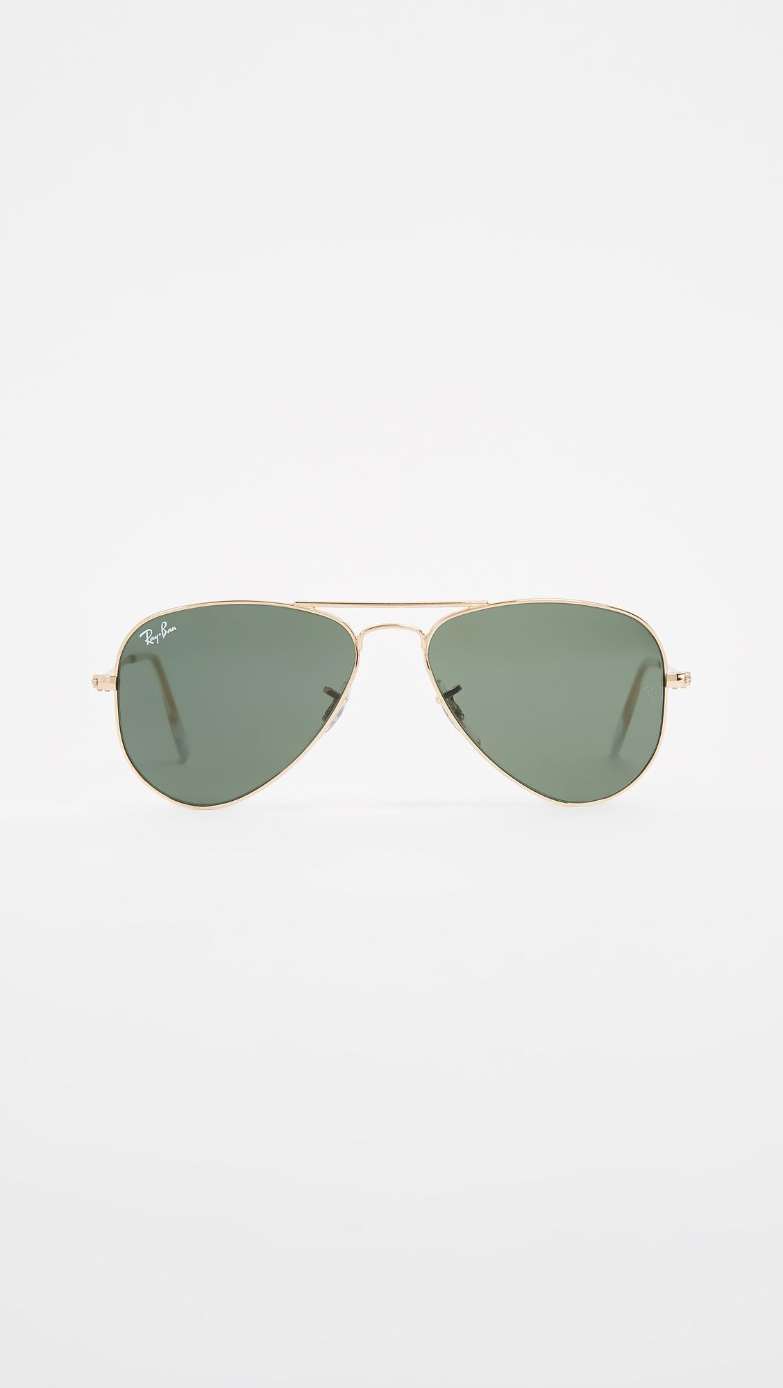 b86866bcb14 Ray-Ban Rb3044 Classic Aviator Sunglasses in Green - Lyst