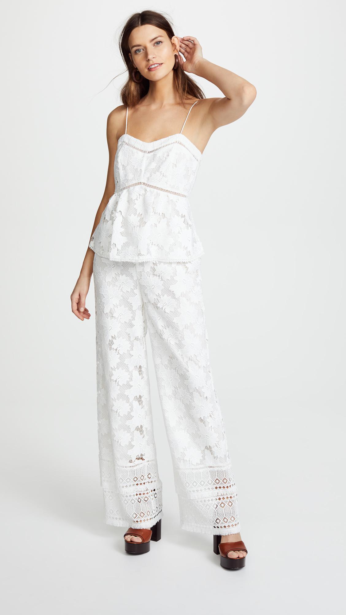 9e45e98a7f71 Lyst - Rachel Zoe Margo Jumpsuit in White