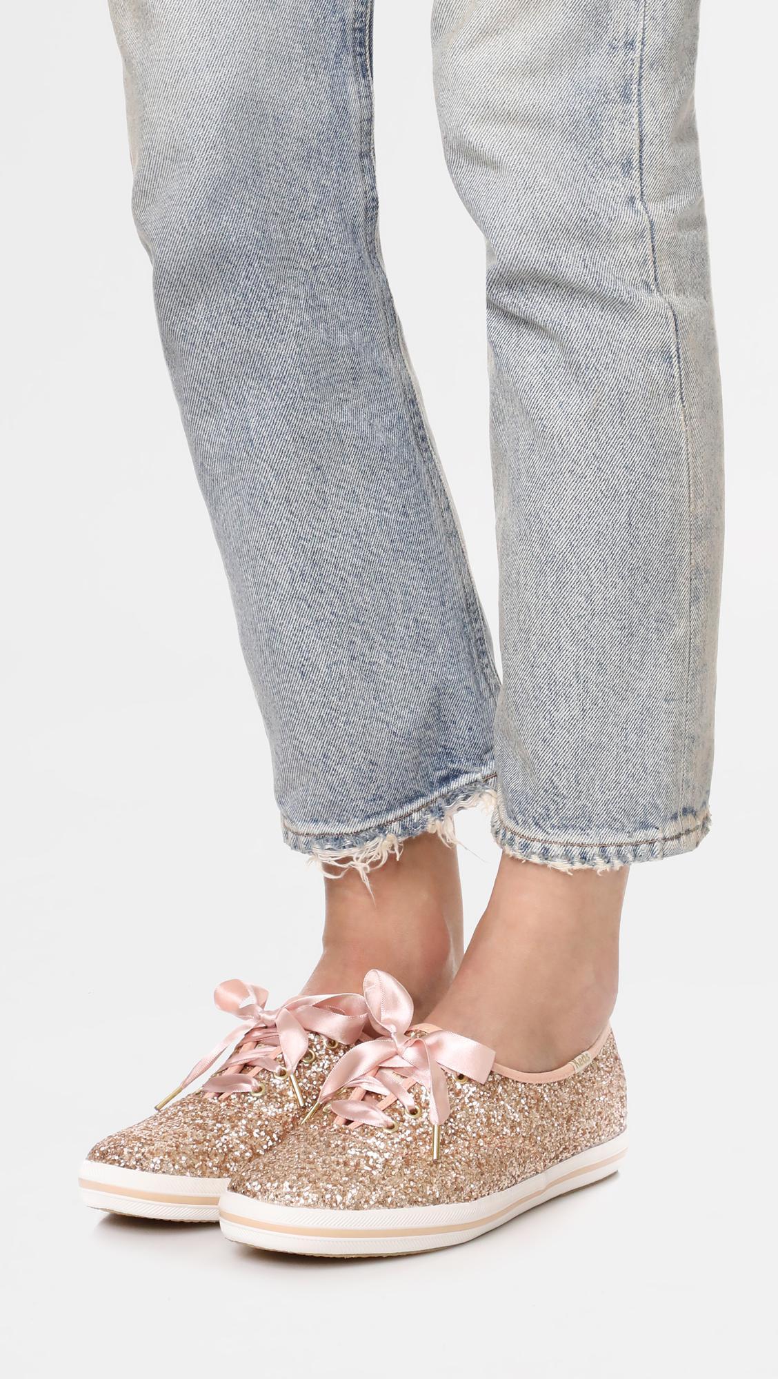bf4f496e067d39 Keds - Pink X Kate Spade New York Glitter Sneakers - Lyst. View fullscreen