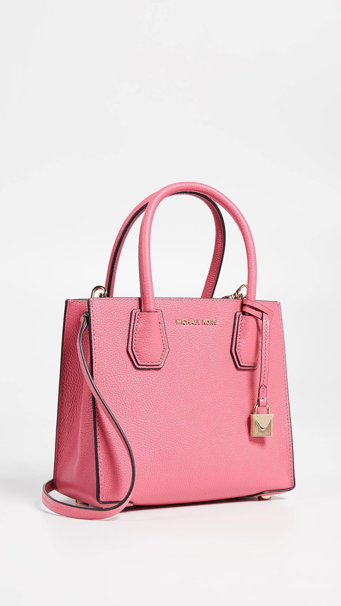 90482270b4a1 MICHAEL Michael Kors Mercer Medium Messenger Tote in Pink - Save 40 ...
