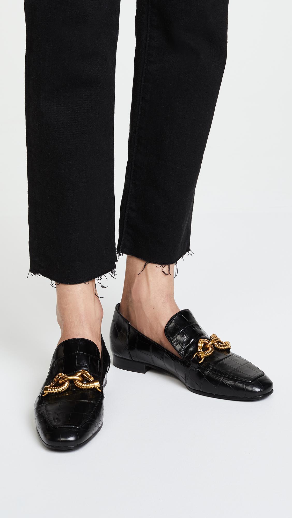 50c21038598 Lyst - Tory Burch Jessa Horse Hardware Loafers in Black