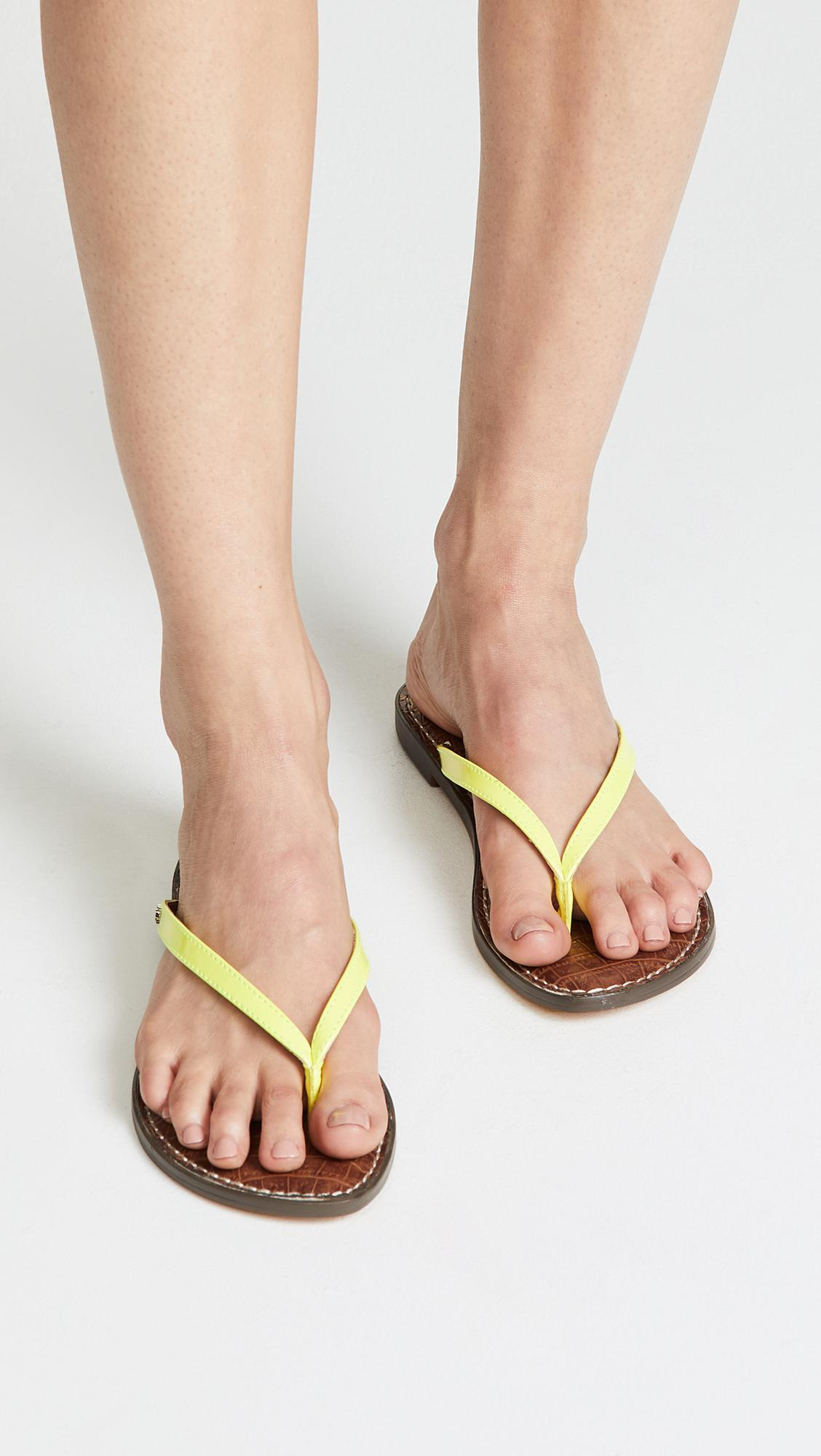 28cf8fc0ffef7 Lyst - Sam Edelman Gracie Thong Sandals