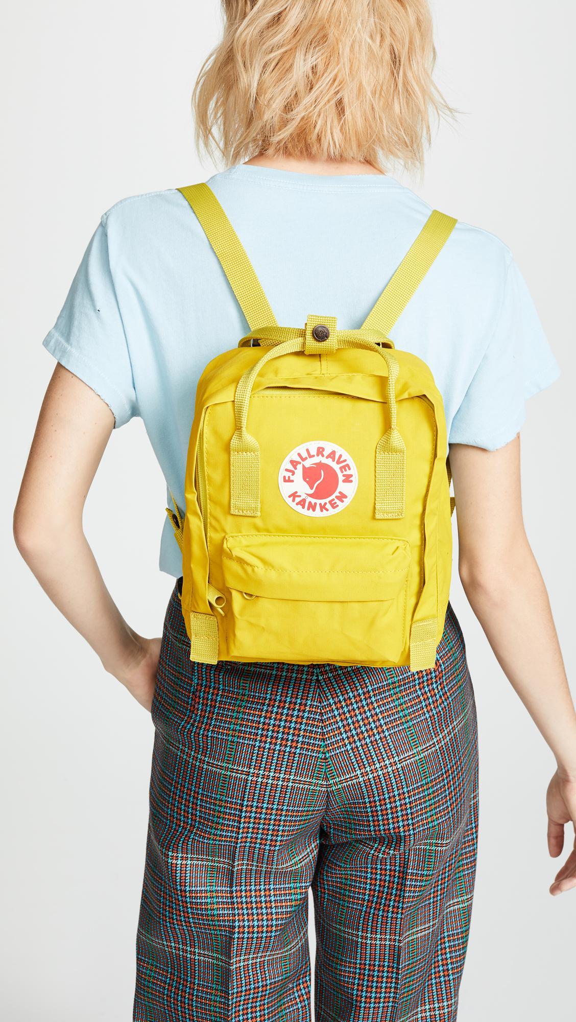 Lyst Fjallraven Kanken Mini Backpack Classic Birch Green Multicolor View Fullscreen