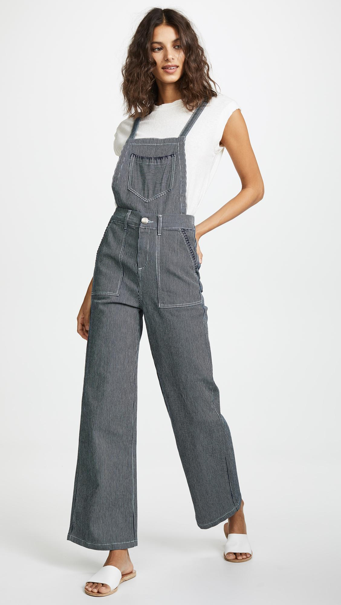 25264d4a164 Lyst - Suncoo Striped Dungarees