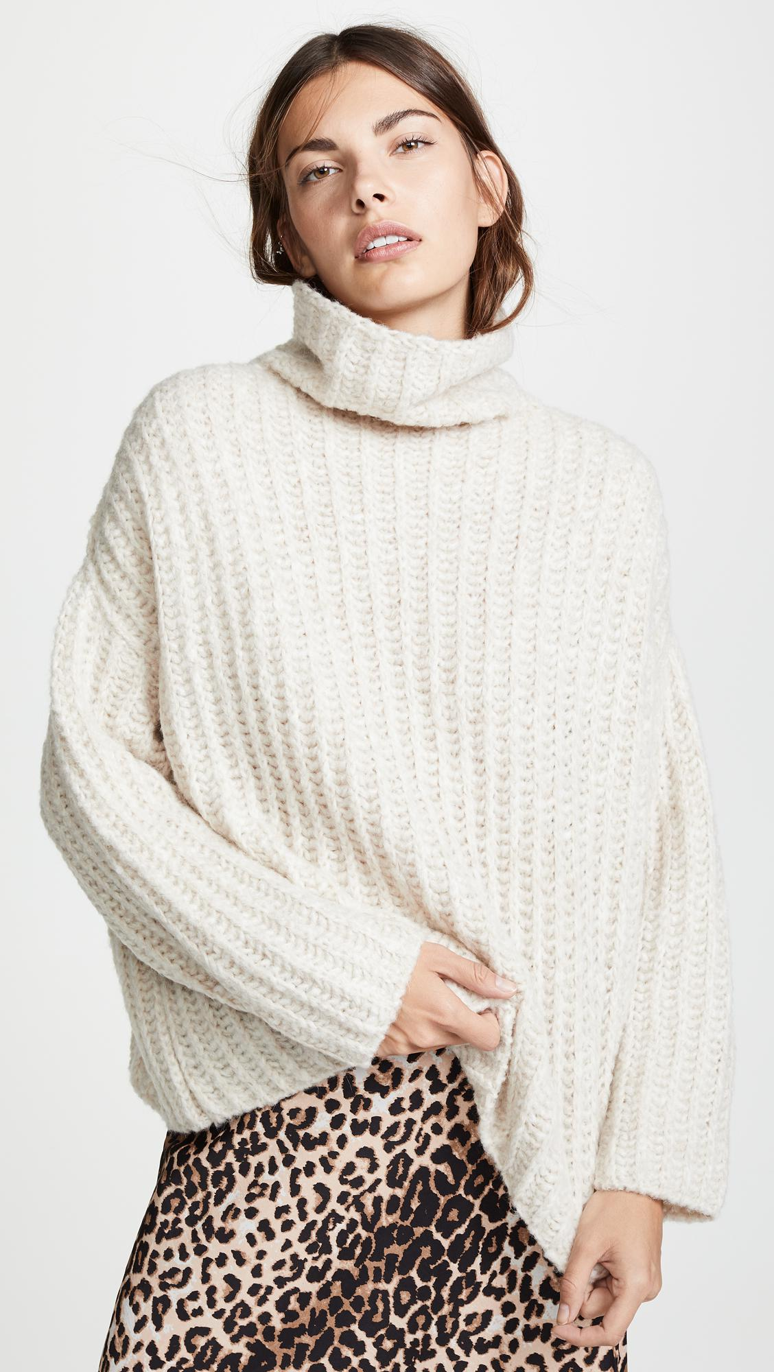 5a92714989ac3f Free People. Women s Fluffy Fox Sweater
