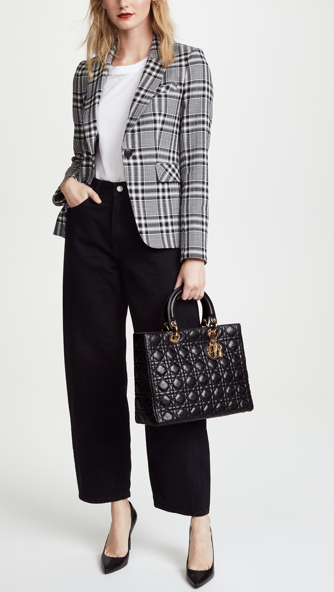 c8d087c020a5 What Goes Around Comes Around - Black Dior Lady Dior Bag - Lyst. View  fullscreen