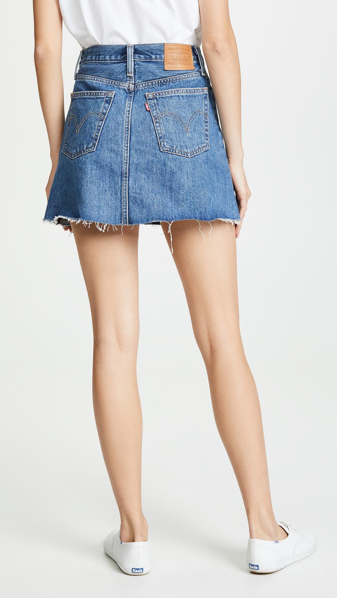 c2a7714e5 ... Button Front Miniskirt - Lyst. View fullscreen
