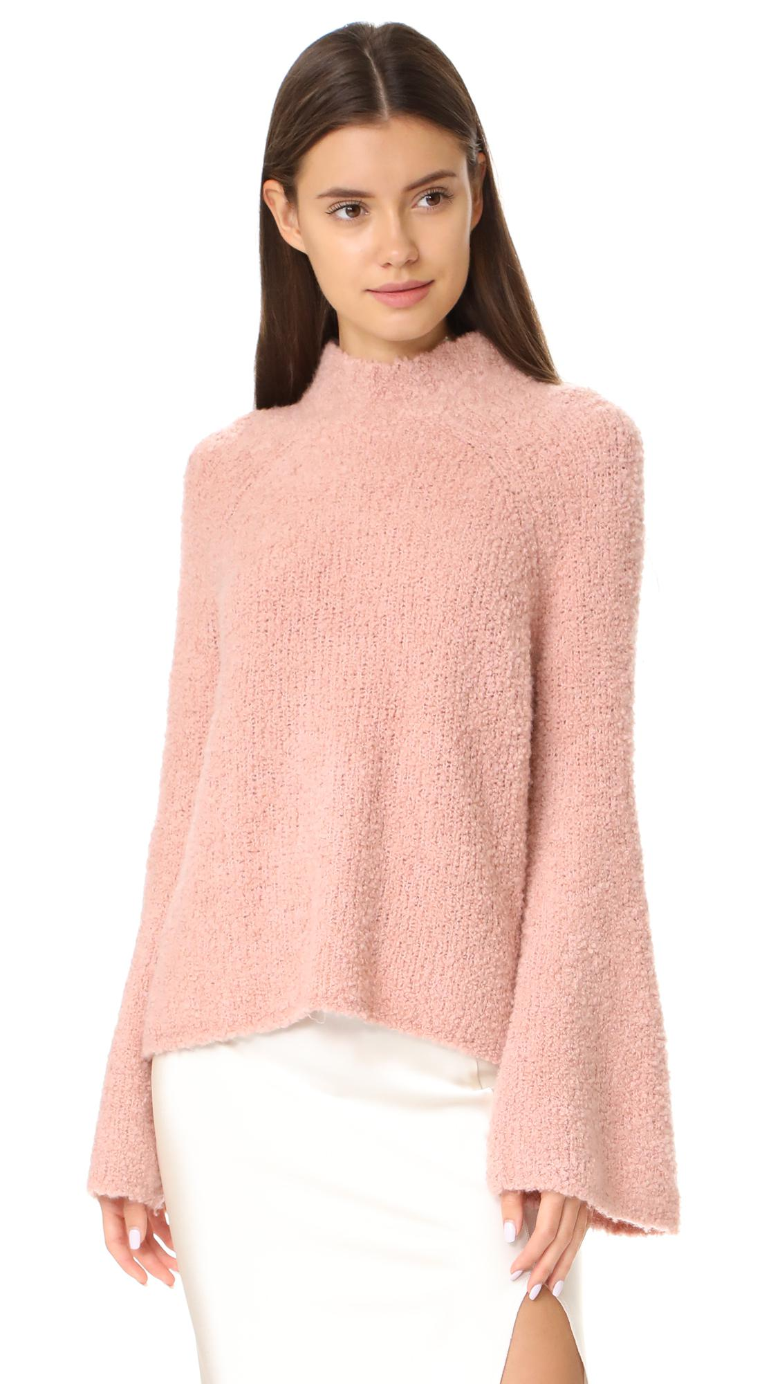 fd87441241c7 Lyst - Ulla Johnson Amina Turtleneck in Pink