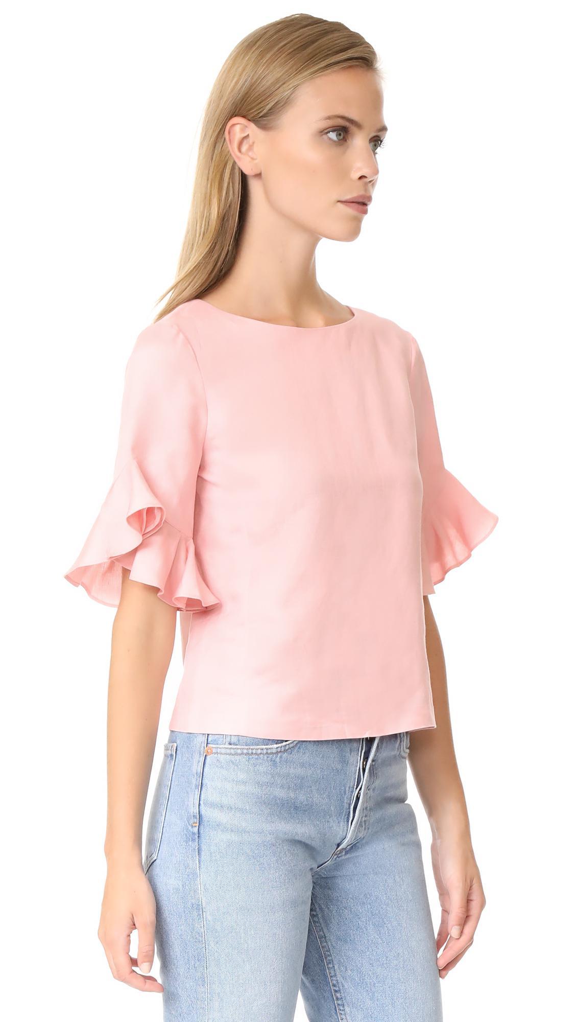 2e1780d043bd1 Club Monaco Hatleth Top in Pink - Lyst