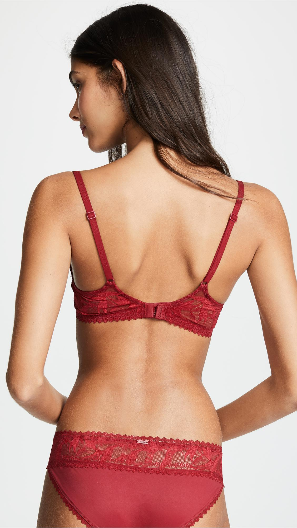 6d9b4c3200 Calvin Klein - Red Perfectly Fit Lightly Lined Plunge Bra - Lyst. View  fullscreen