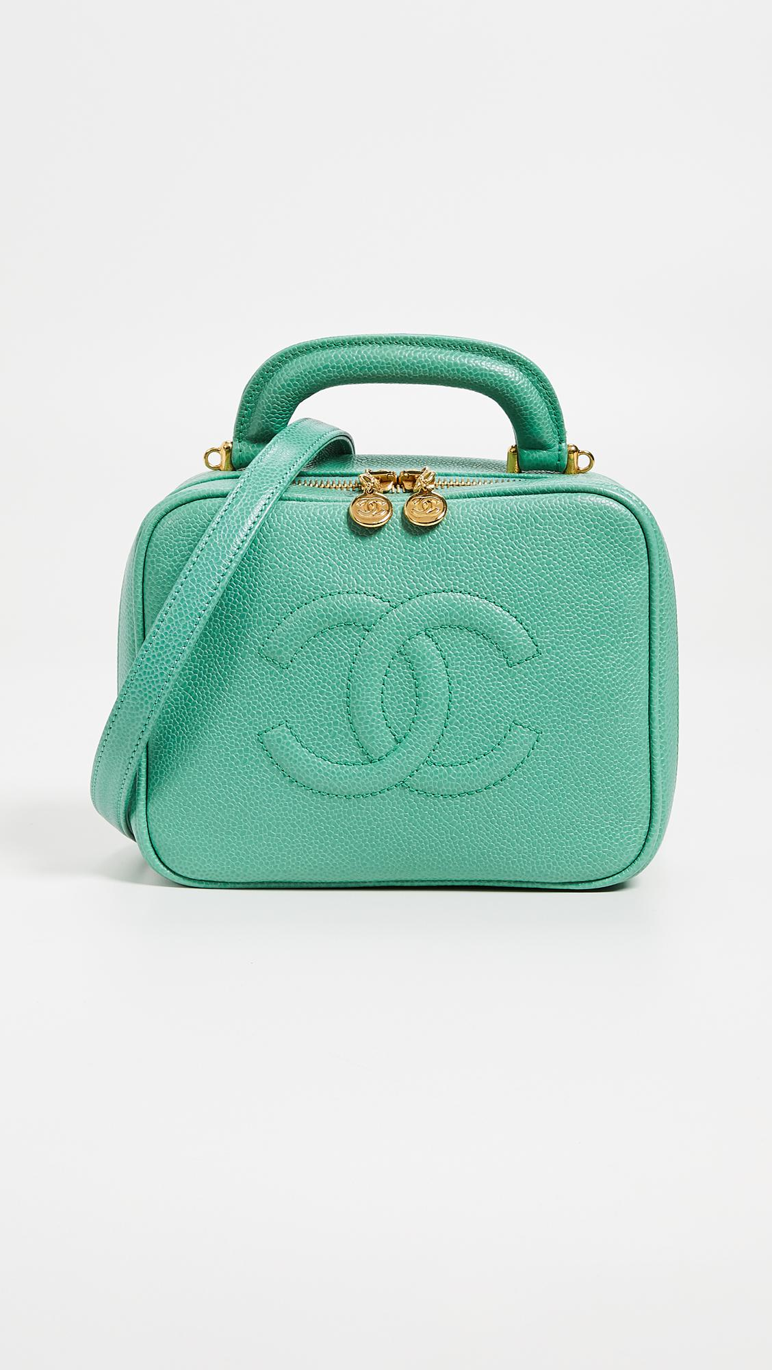 a6b9eaeab84a What goes around comes around chanel lunch box vanity bag in green jpg  1128x2000 Chanel lunch