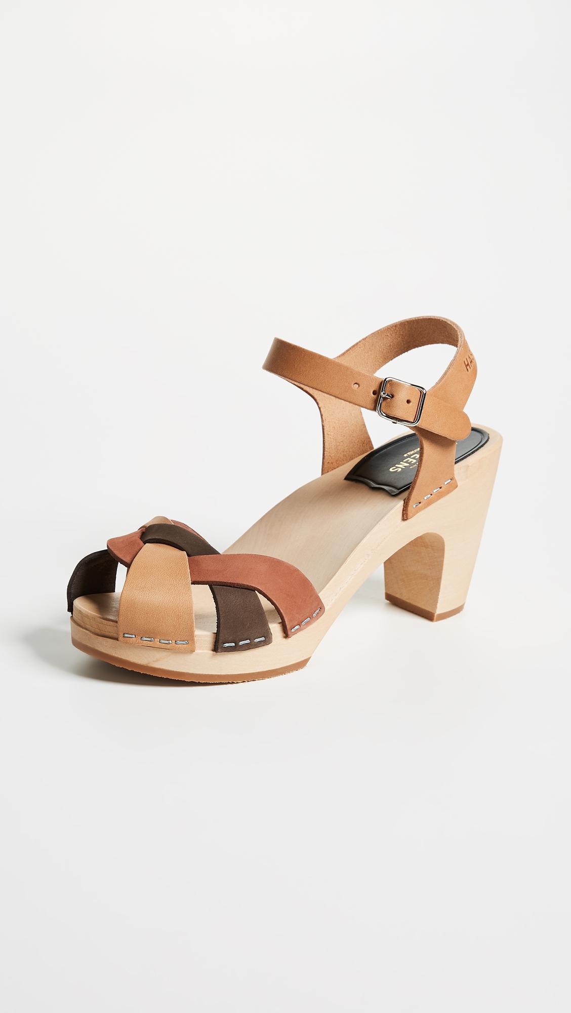 Office Swedish Hasbeens Greek Mid Heel Sandal Particular Discount 100% Original For Sale iCjvwz