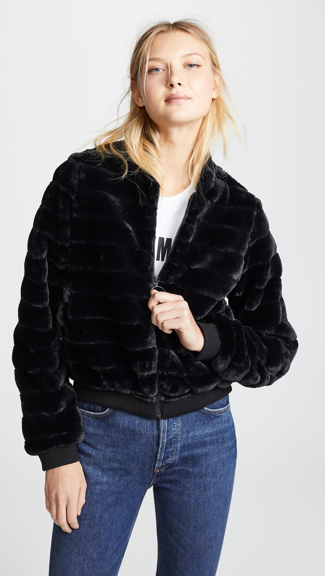 4e1bba88e9a2 Lyst - Line   Dot Aspen Faux Fur Jacket in Black