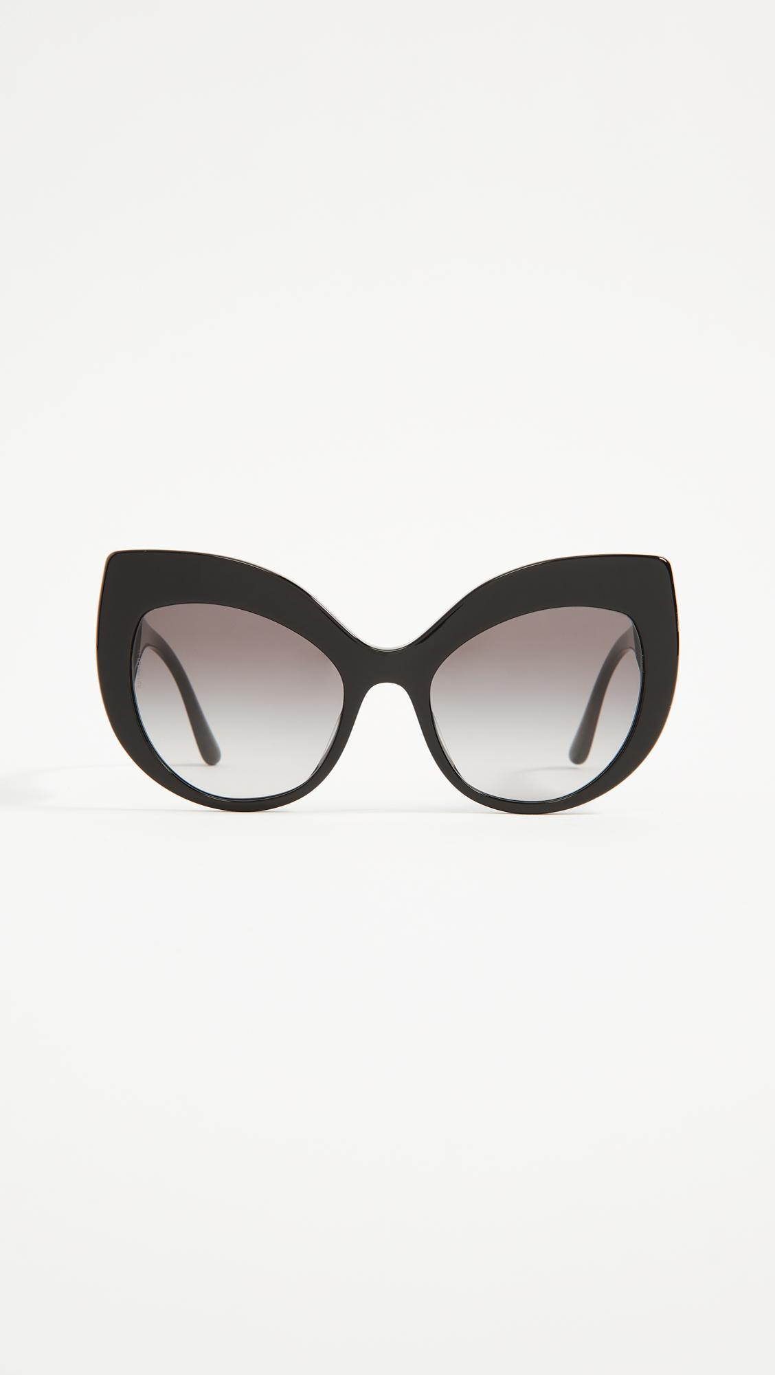 314a0ef9d27 Dolce   Gabbana Ortensia Extreme Cat Sunglasses in Black - Lyst