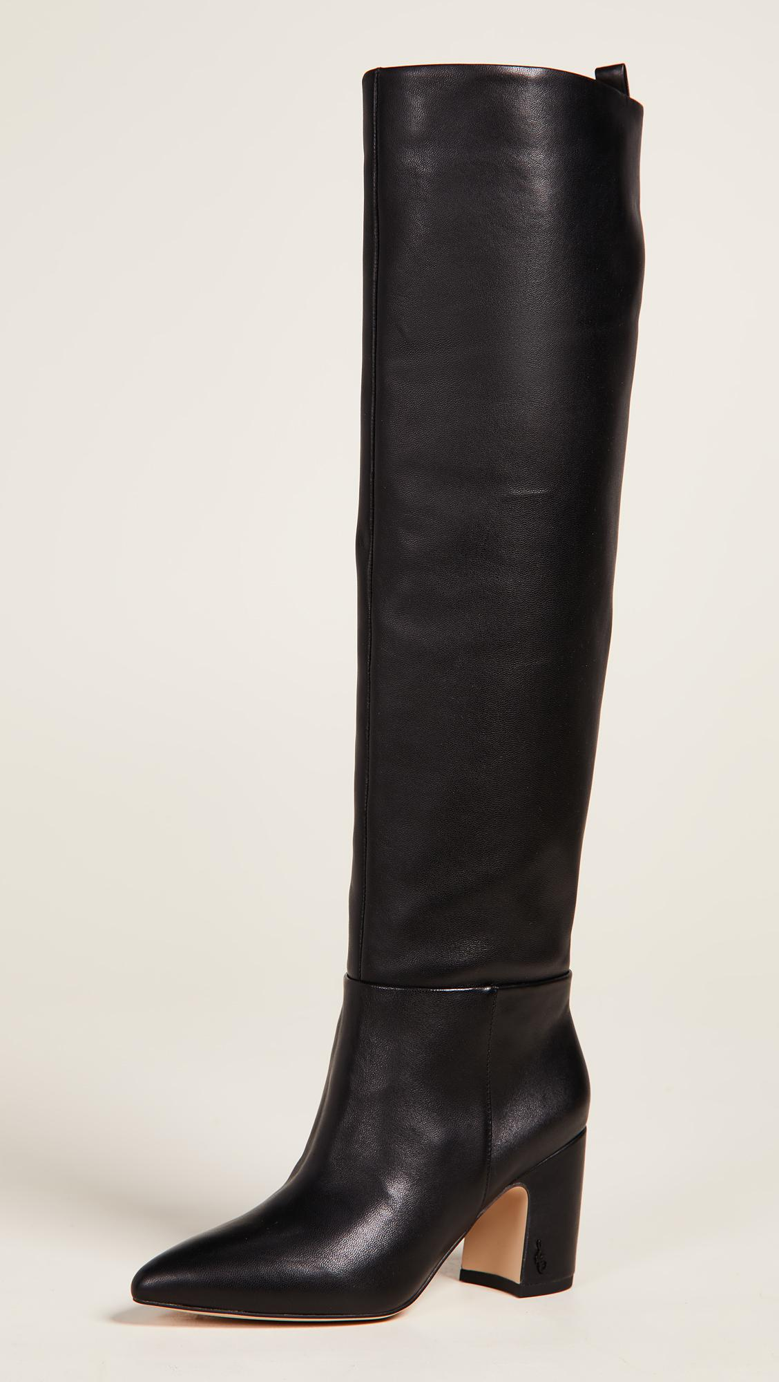 67d90bc94bfa Sam Edelman Hutton Tall Boots in Black - Lyst