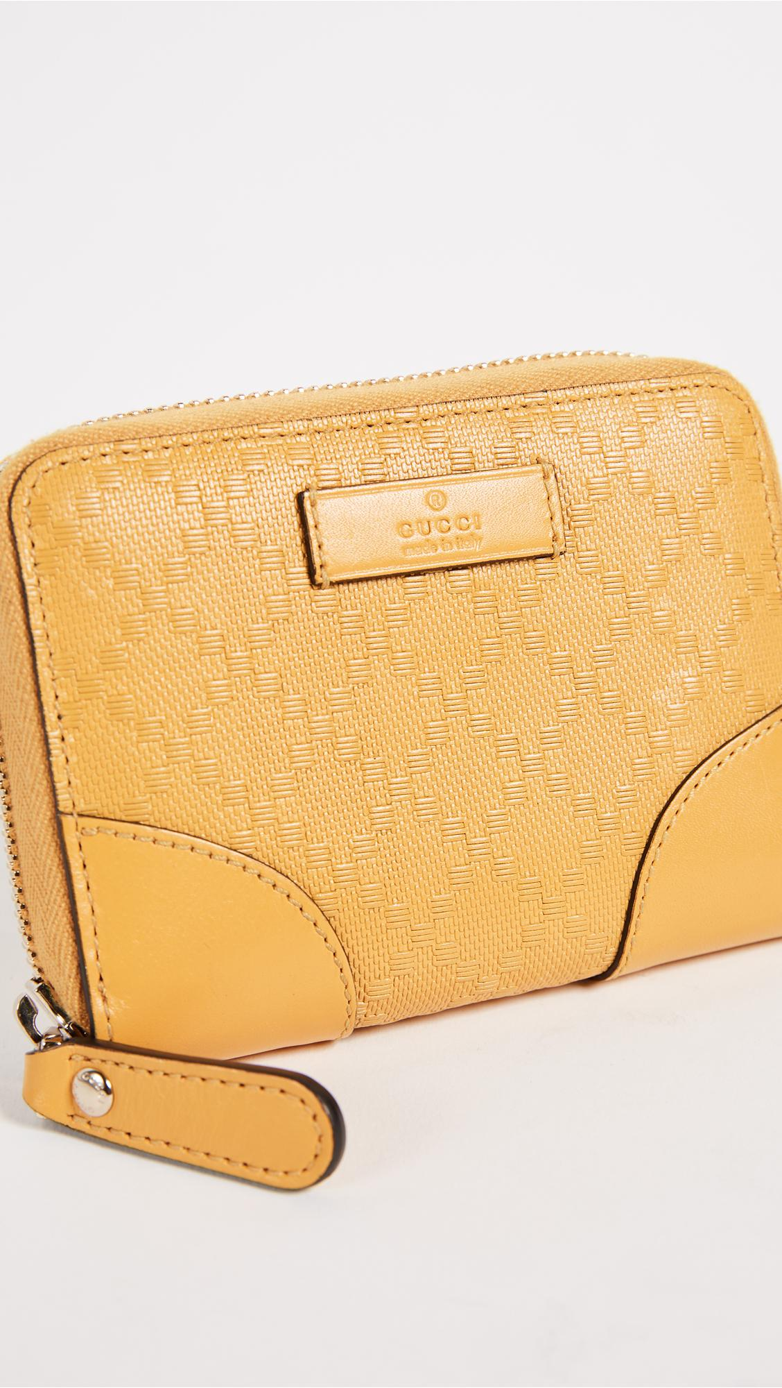 9873d3f4457 Lyst - What Goes Around Comes Around Gucci Yellow Diamante Zip ...