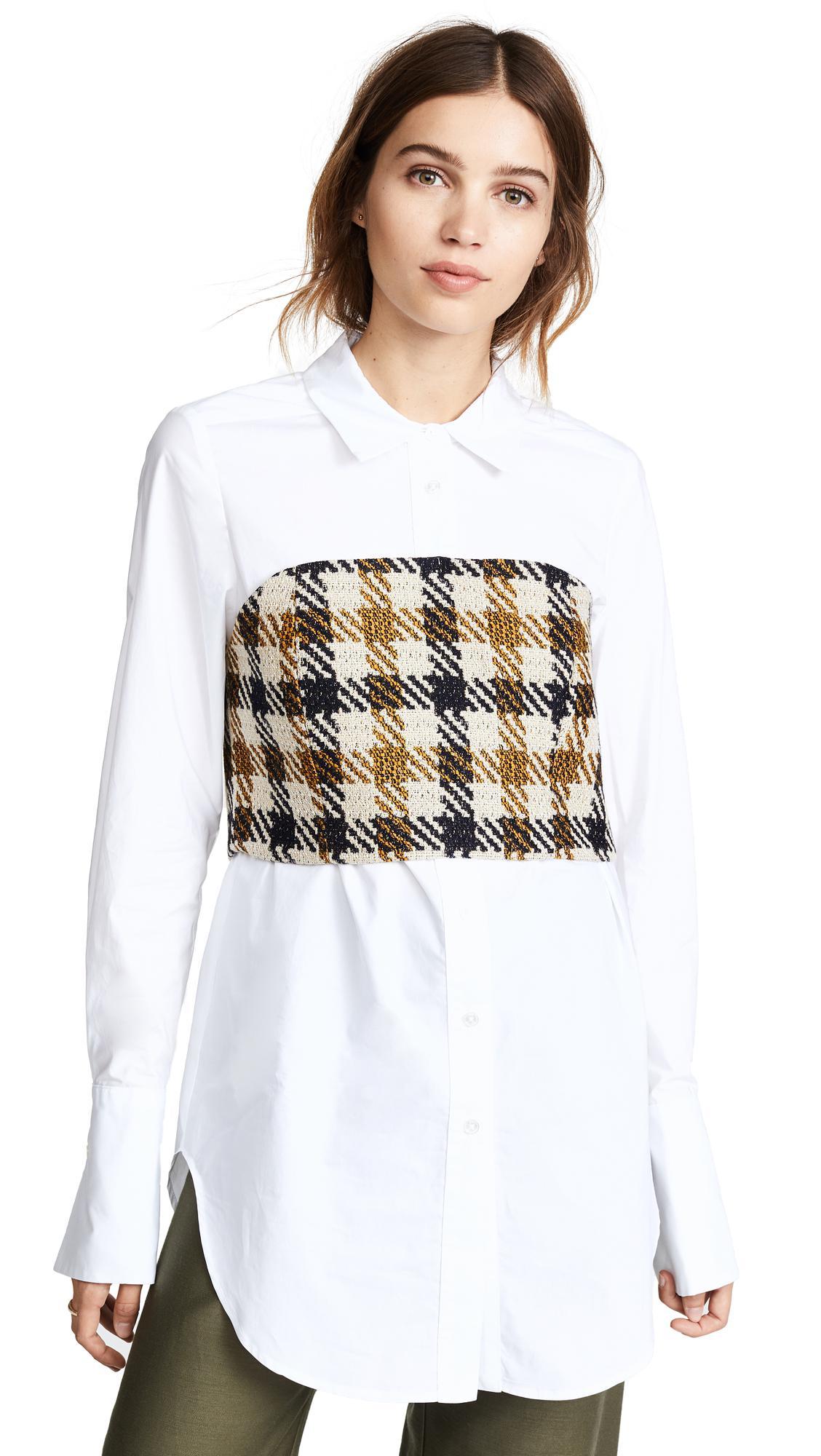 Lyst - Sea Corset Combo Shirt in White