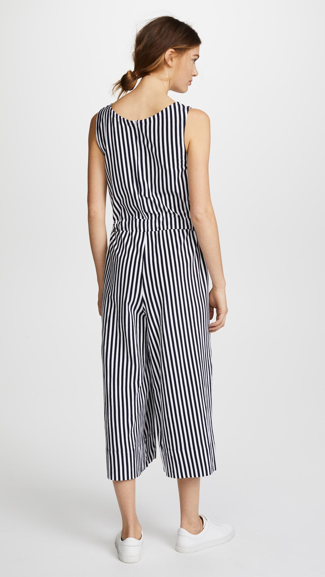5a510118c928 Lyst - MDS Stripes Amanda Jumpsuit in Blue