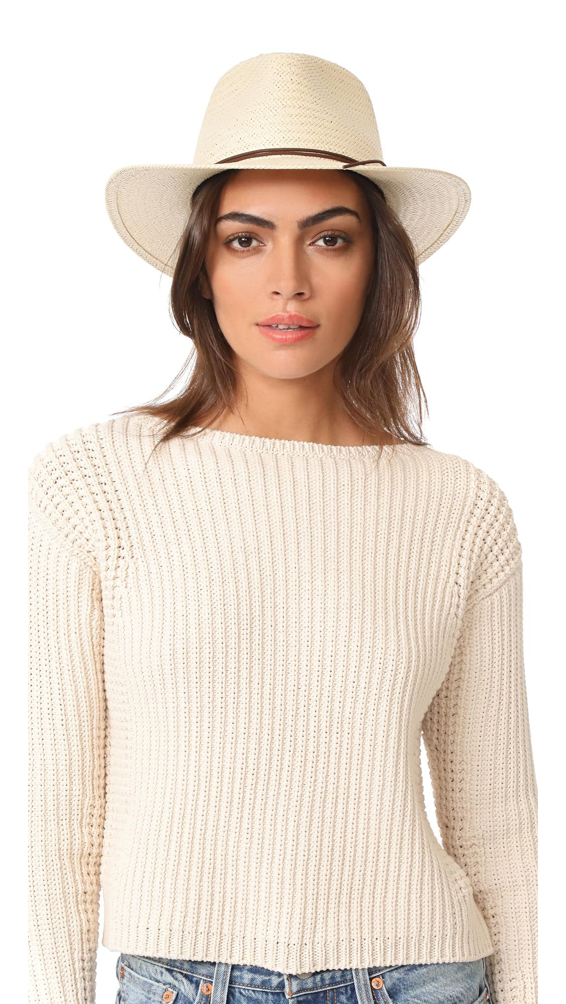 f2258ab8 Rag & Bone Packable Straw Fedora in Natural - Lyst