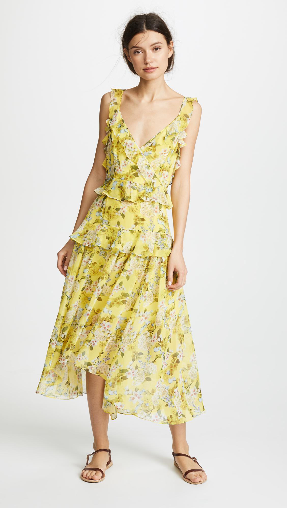 Fashionable Sale Online Everett Silk Print Dress Marissa Webb Really For Sale Buy Best j0Ag9