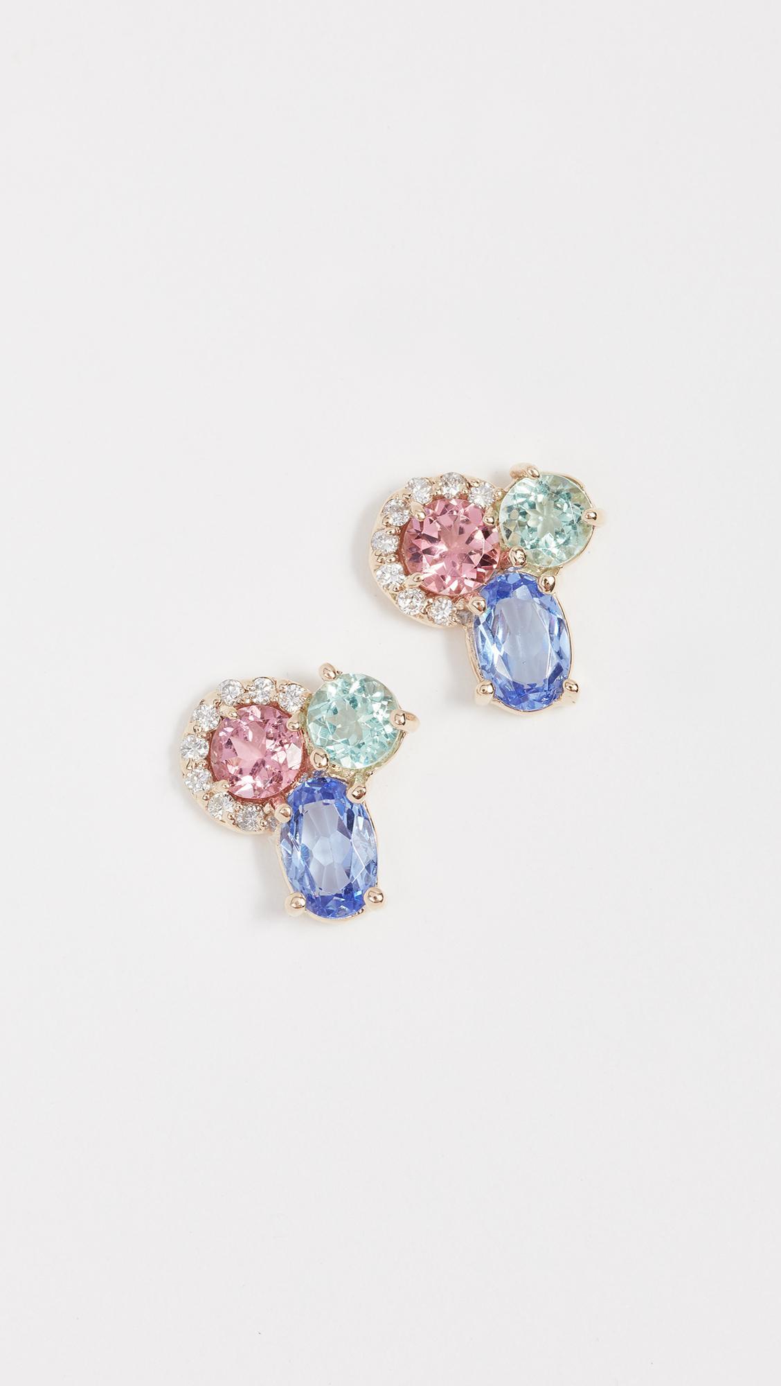 Eden Presley 14k Gold Sapphire Earrings H4fEu0Tr8