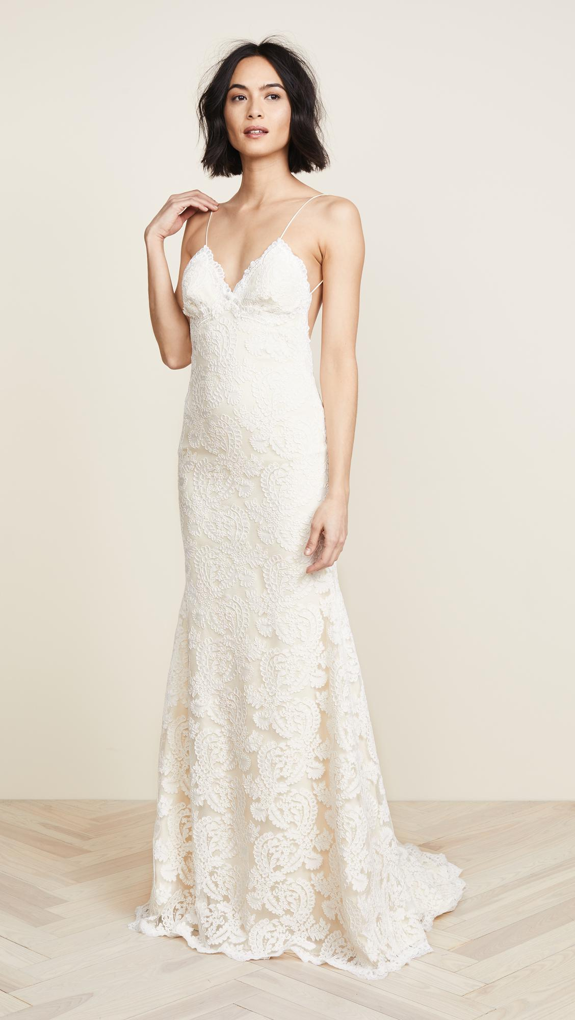 Lyst - Katie May Poipu Low Back Gown in White