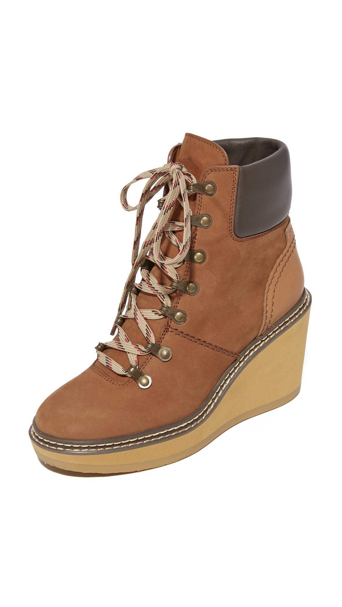 04135cb67dd1 Lyst - See By Chloé Eileen Wedge Boots in Brown