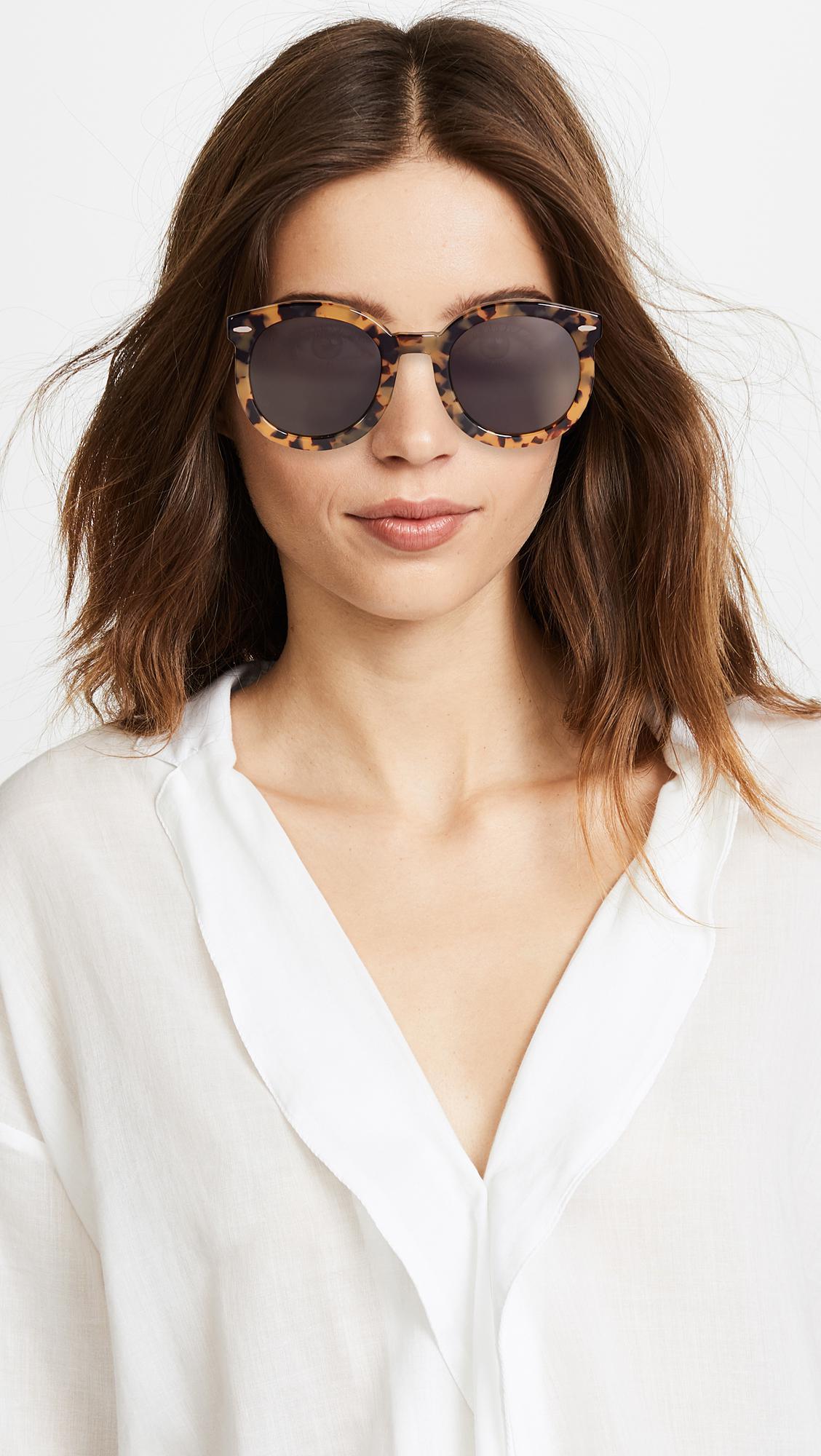 8e4f31506367 Karen Walker - Brown Super Duper Strength Sunglasses - Lyst. View fullscreen