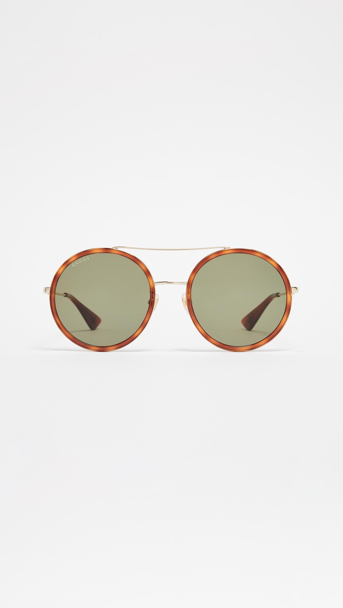 662910be4297 Gucci - Multicolor Urban Web Block Round Sunglasses - Lyst. View fullscreen