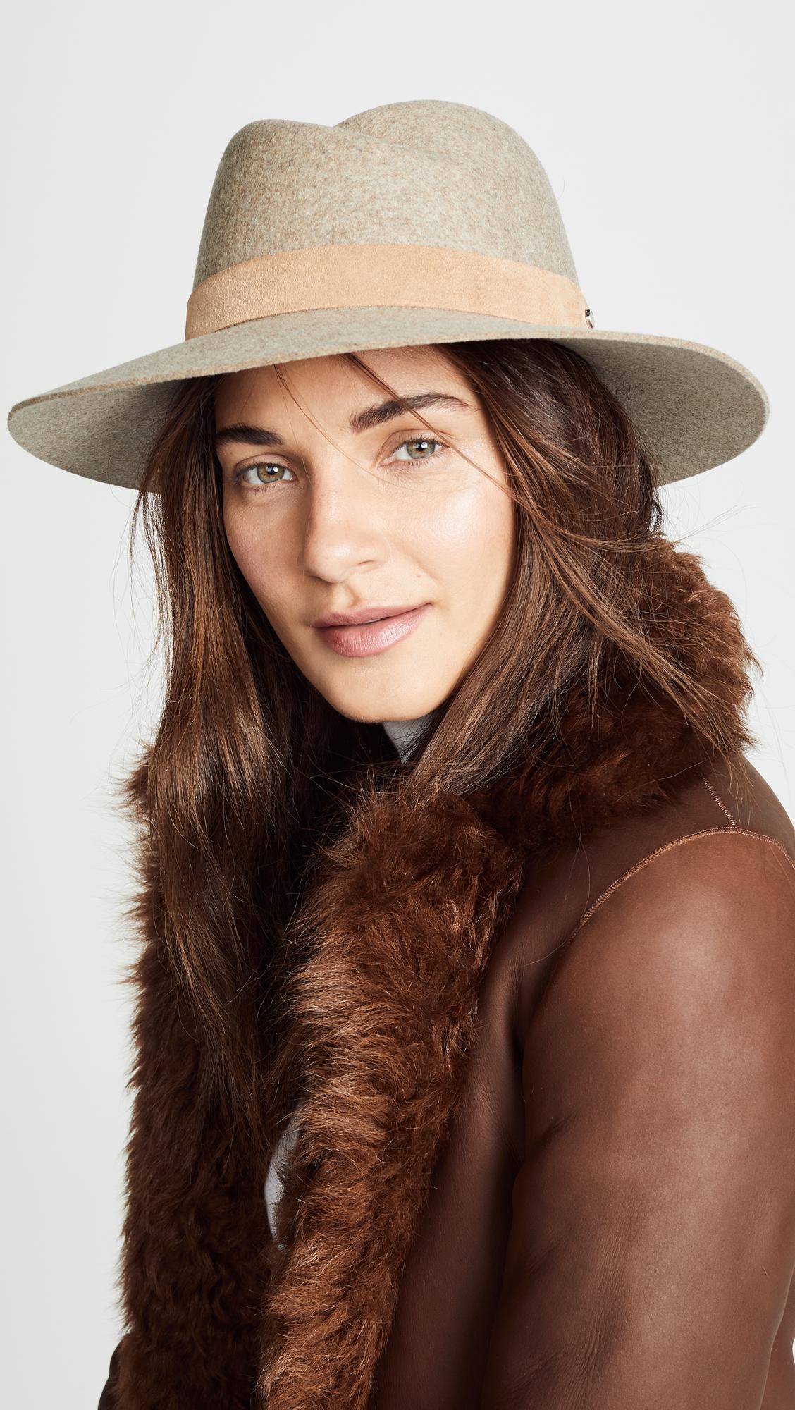 6e853147e466a Lyst - Rag   Bone Zoe Fedora Hat in Brown