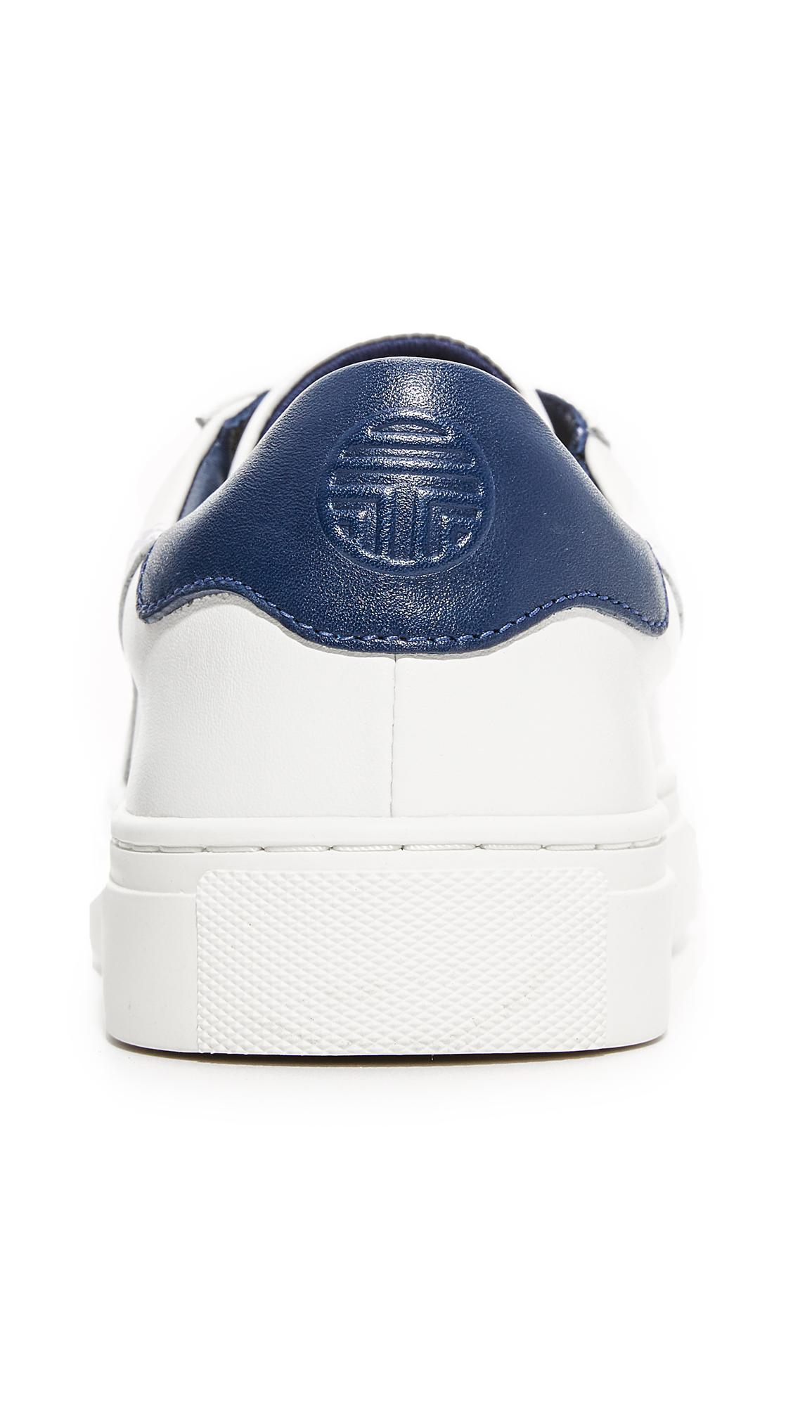 eb7ae844c760 Lyst - Tory Burch Tory Sport Chevron Colorblock Sneakers in Blue