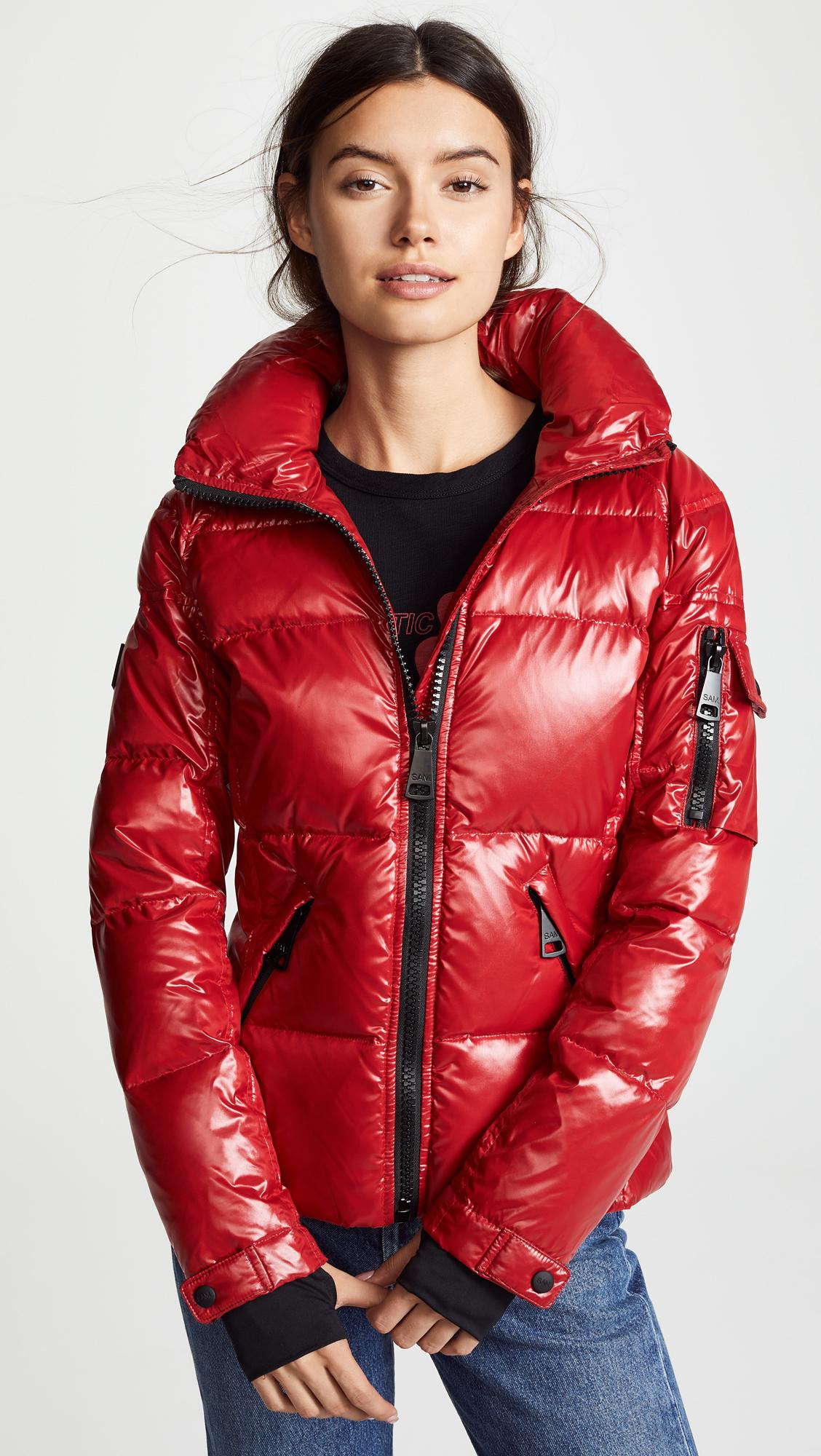 2c0caf395 Lyst - Sam. Freestyle Short Down Jacket in Red