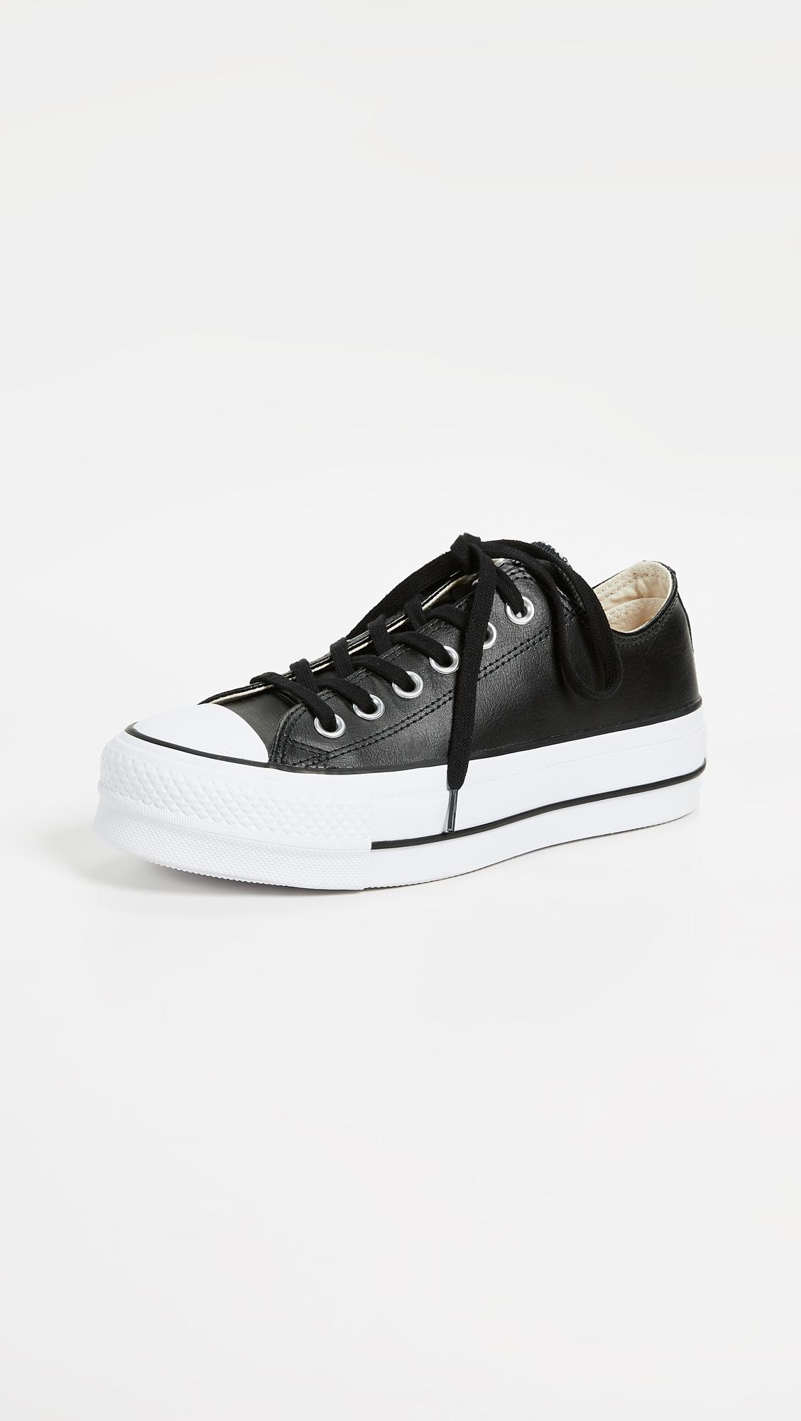 b73cf50efe49ec Converse Chuck All Star Lift Clean Ox Sneakers in Black - Lyst