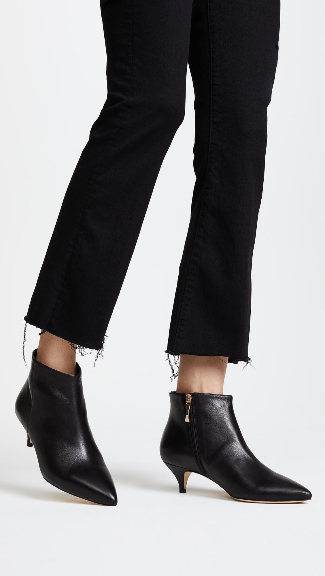 3ca3d18bd8ea Lyst - Kate Spade Olly Kitten Heel Ankle Booties in Black