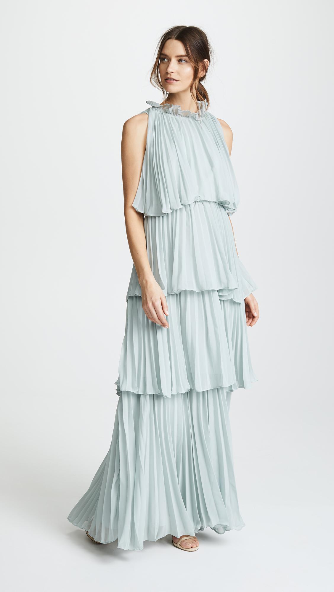 Lyst - Glamorous True Decadence Ruffle Tier Dress in Blue