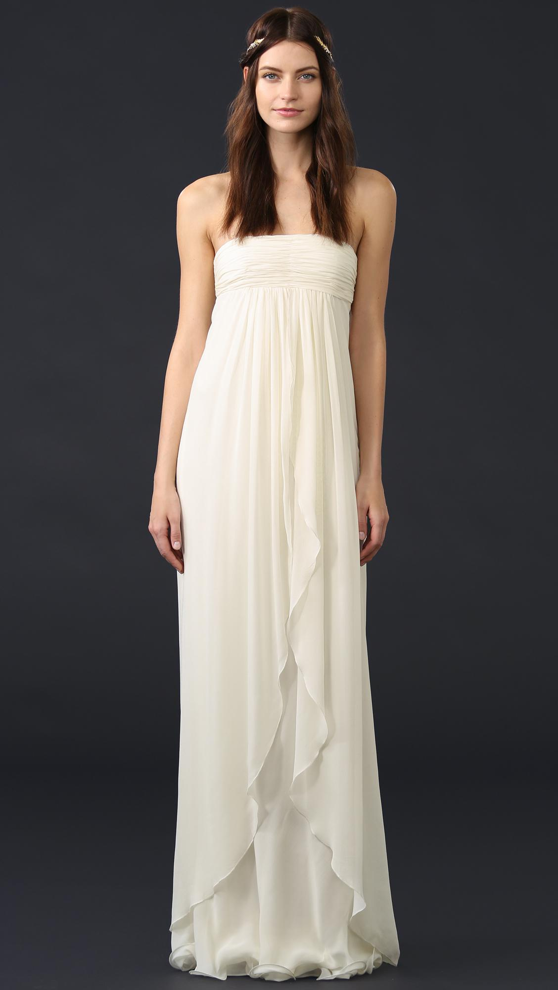 Lyst - Rachel Zoe Elle Strapless Empire Gown in White - Save 60.0%