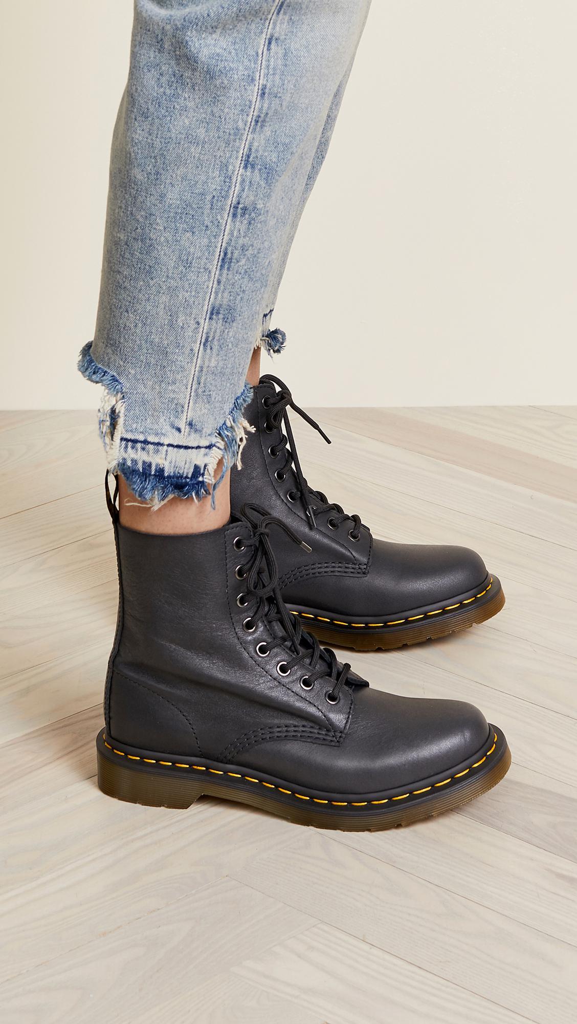 21586f8a0a Dr. Martens - Black 1460 Pascal 8 Eye Boots - Lyst. View fullscreen