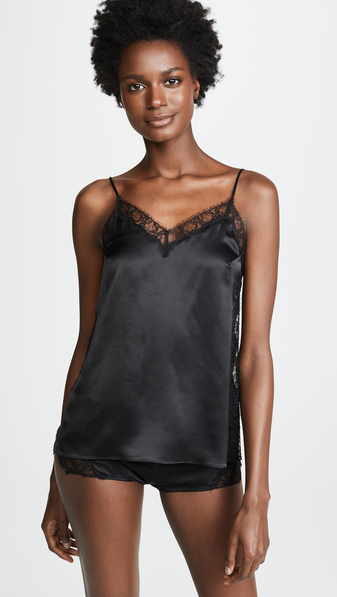 843782ea4d6c8 Lyst - Kiki de Montparnasse Icon Lace Inset Cami in Black