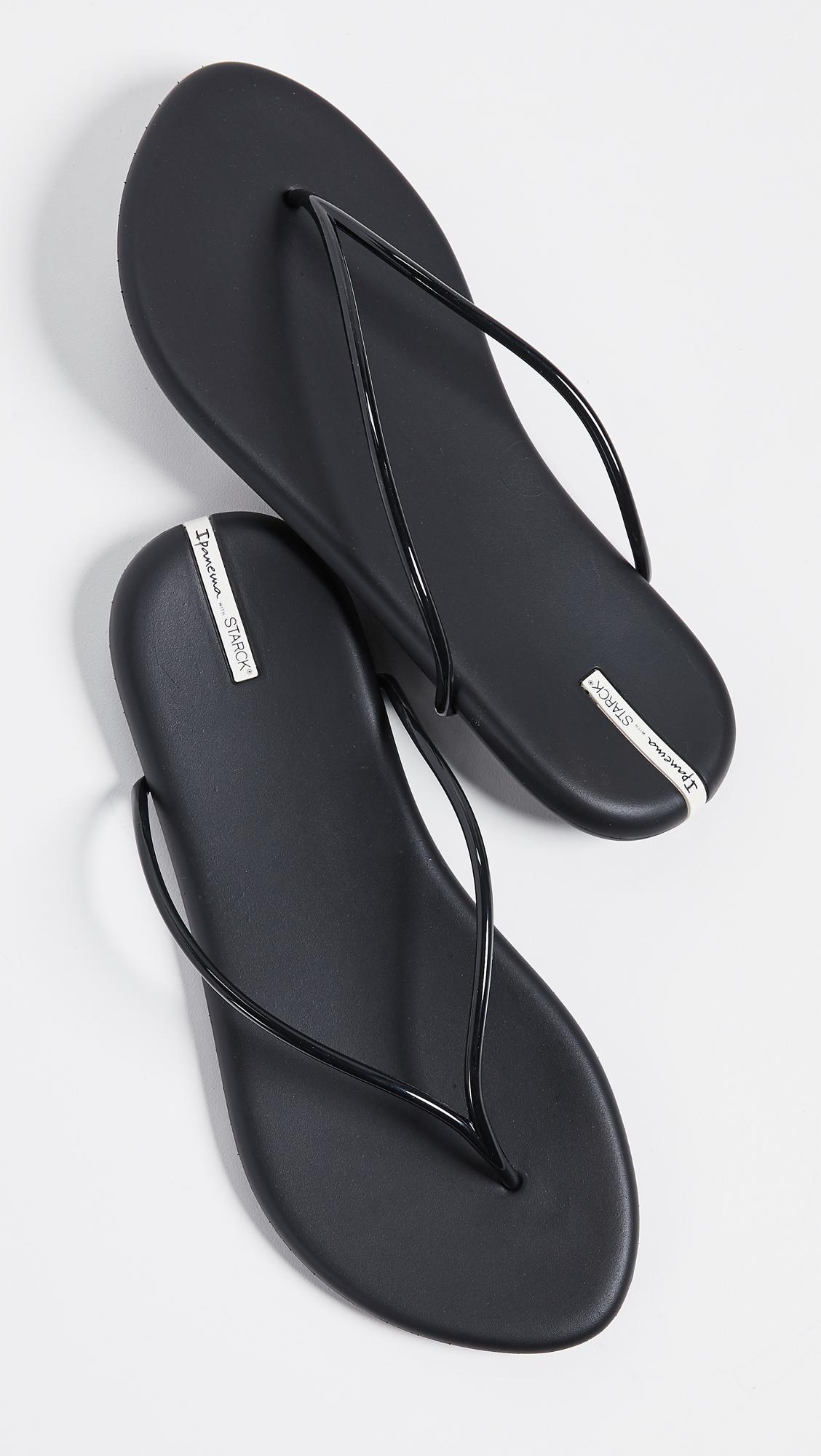 c9b3549674d Ipanema Philippe Starck Thing M Ii Flip Flops in Black - Lyst