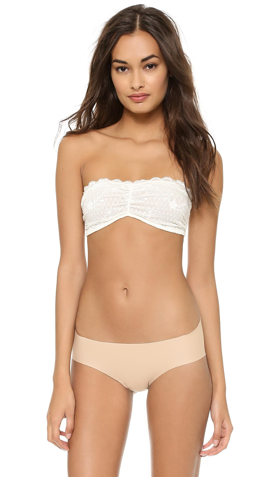 2fe655614ee6 Lyst - Free People Essential Lace Bandeau Bra in White