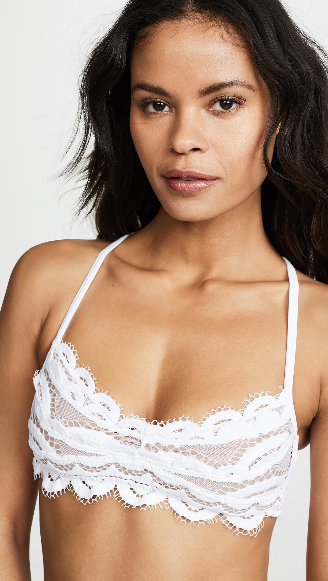 9deff35a1681a Lyst - Pilyq Lace Bralette Bikini Top in White