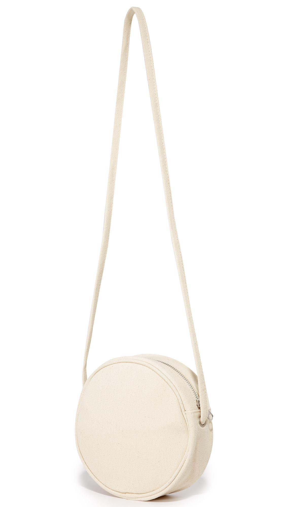 BAGGU Small Canvas Circle Purse in Natural - Lyst a74bc9f478051