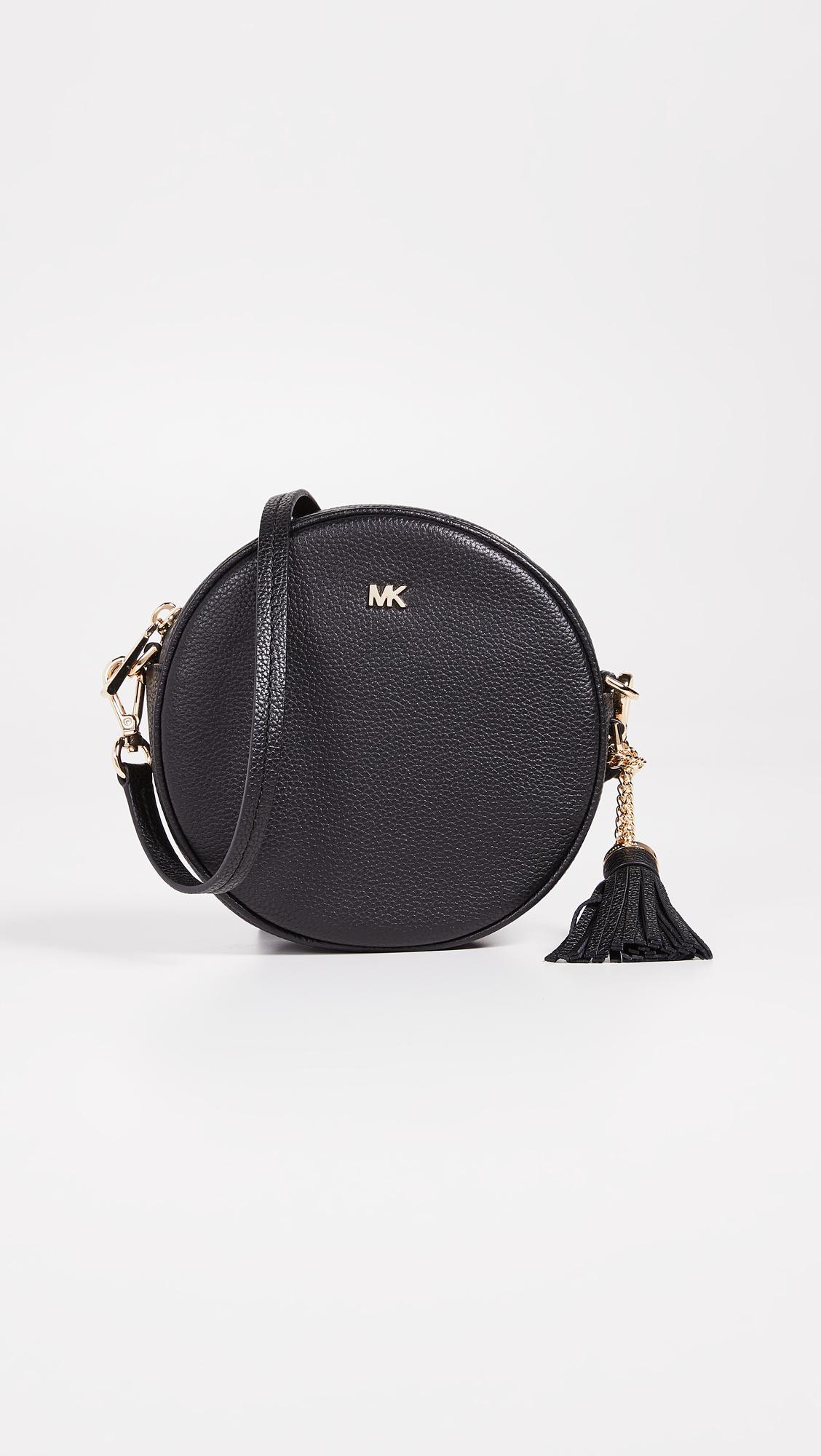 9be646a1200c Lyst - MICHAEL Michael Kors Medium Canteen Crossbody Bag in Black