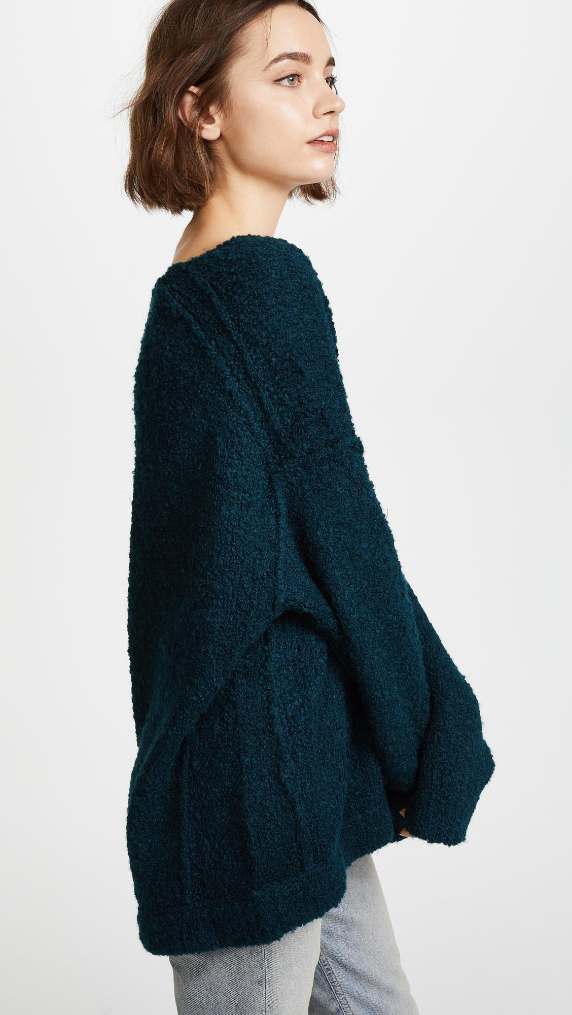 Lyst Free People Lofty V Neck Sweater In Blue