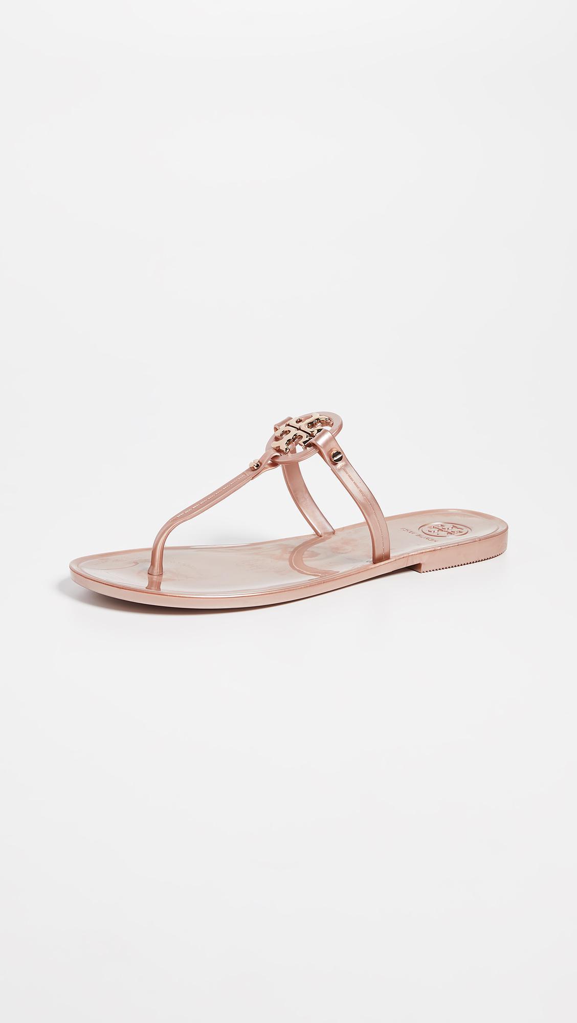 61761578069 Tory Burch Mini Miller Flat Thong Sandals in Pink - Lyst