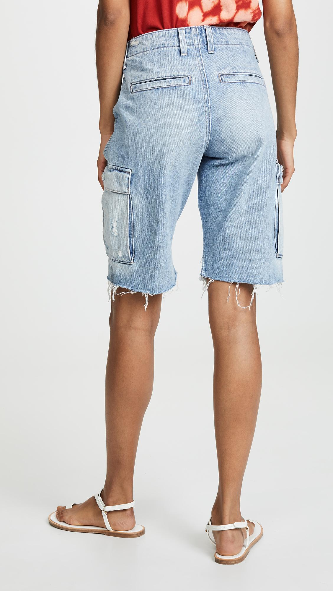 561408e417 Hudson Jeans Jane Relaxed Cargo Shorts in Blue - Lyst