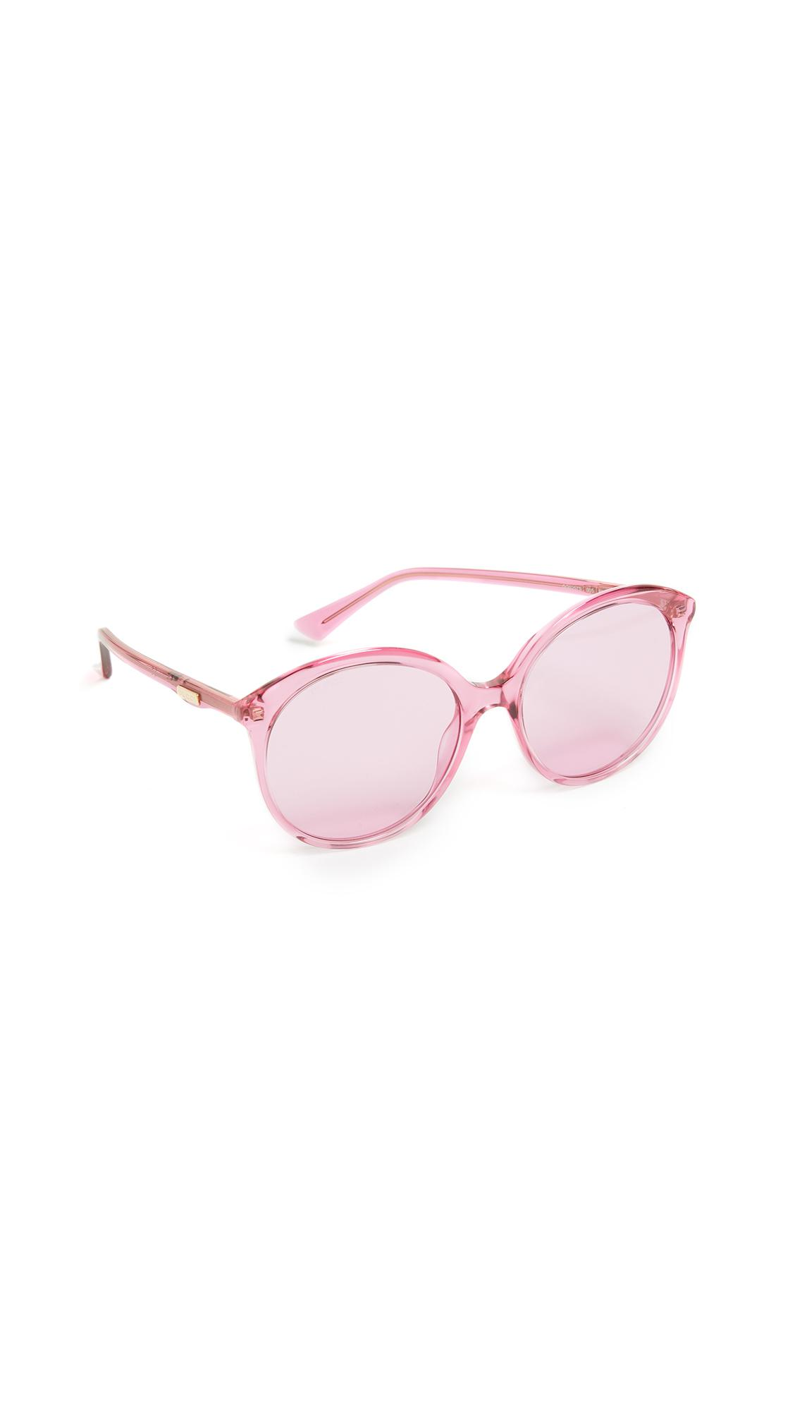 842afb481c ... Round Monocolor Sunglasses - Lyst. View fullscreen