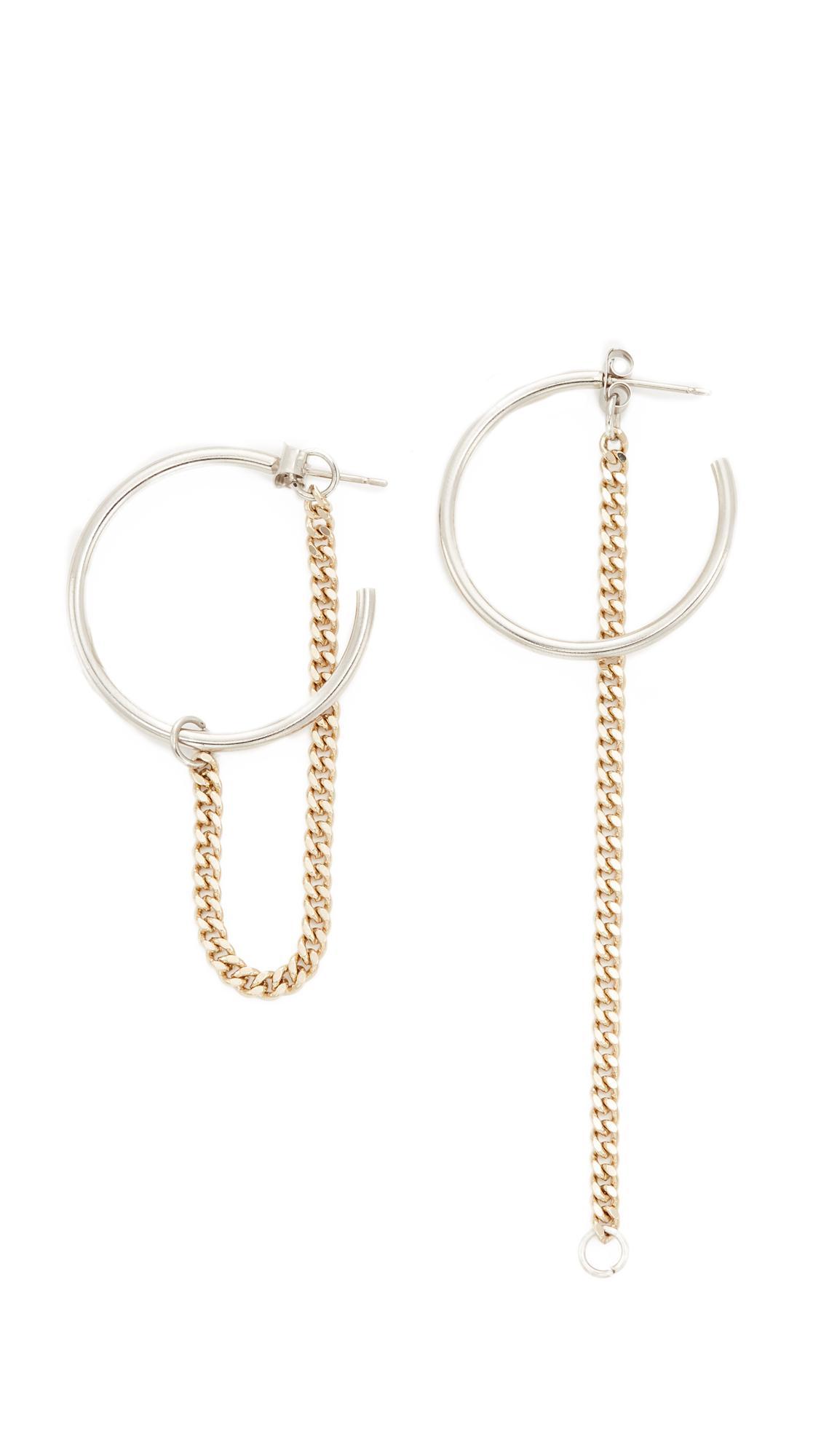 Justine Clenquet Bonnie hoop earrings - Metallic UKFQ5IAu