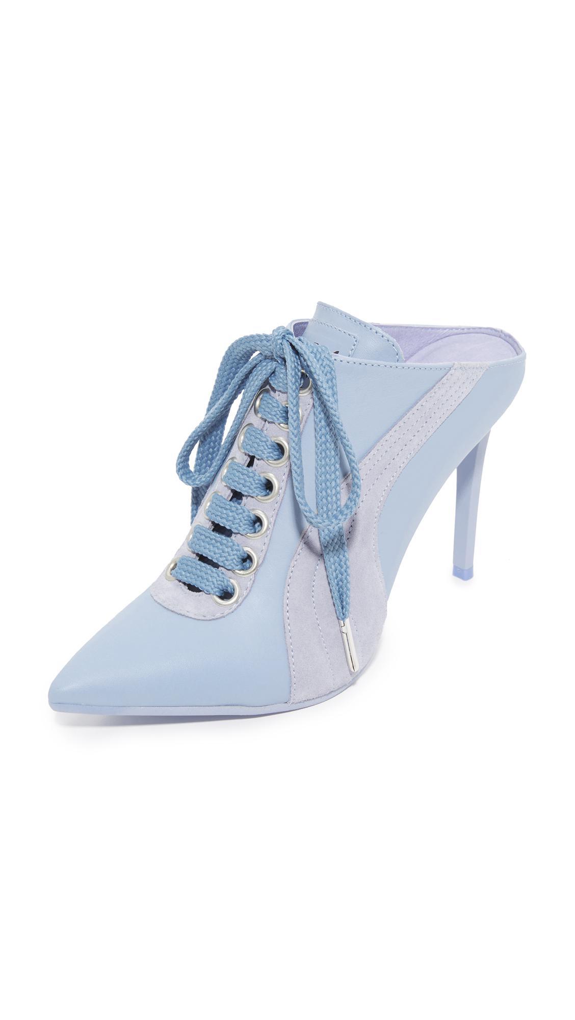 1ae1fa412f6 Lyst - PUMA Fenty X Mule Heels in Blue
